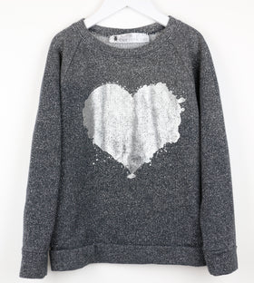 Tinsel Sweatshirt + Metallic Heart (8Y)