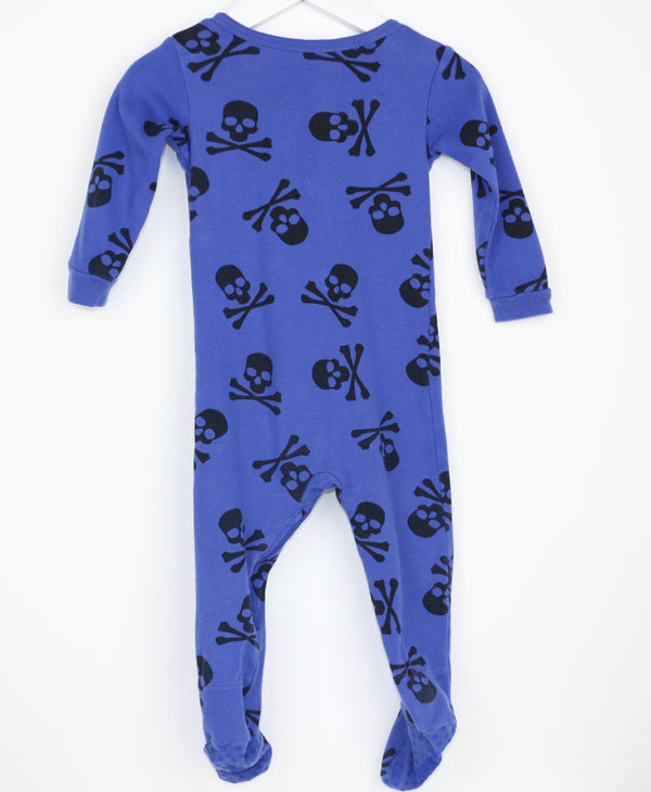 Skeleton Footie (12-18M)