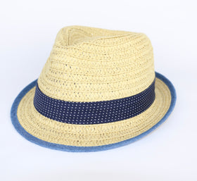 Natural Straw Fedora (2 yrs)