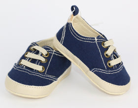 Ink Blue Twill Sneakers (0-3M)