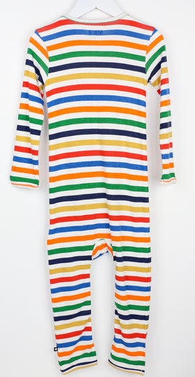 Cozy Striped Long-Sleeve Romper (2T)