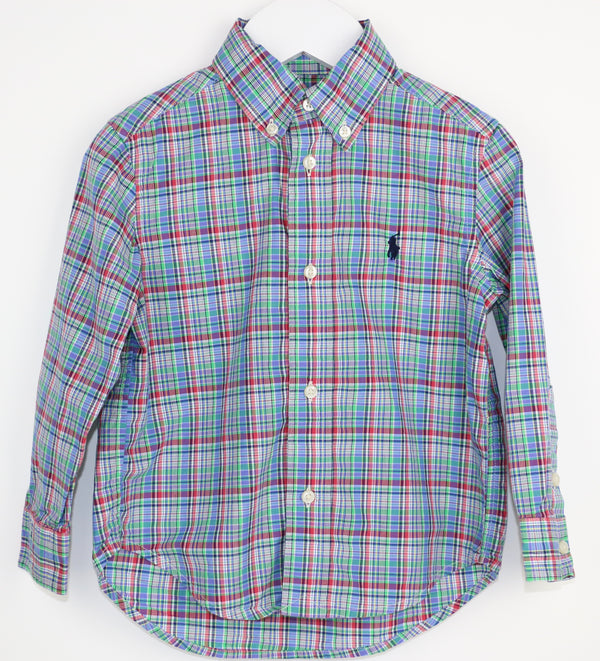 Mini Plaid Poplin Shirt (2/2T)