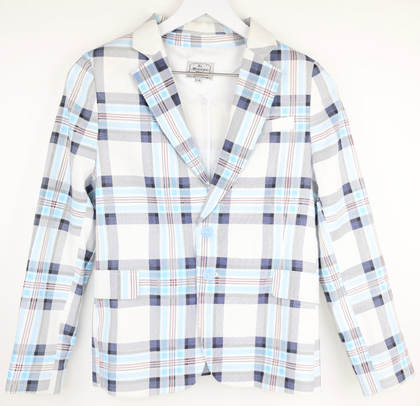 Plaid Linen Blazer (14Y)