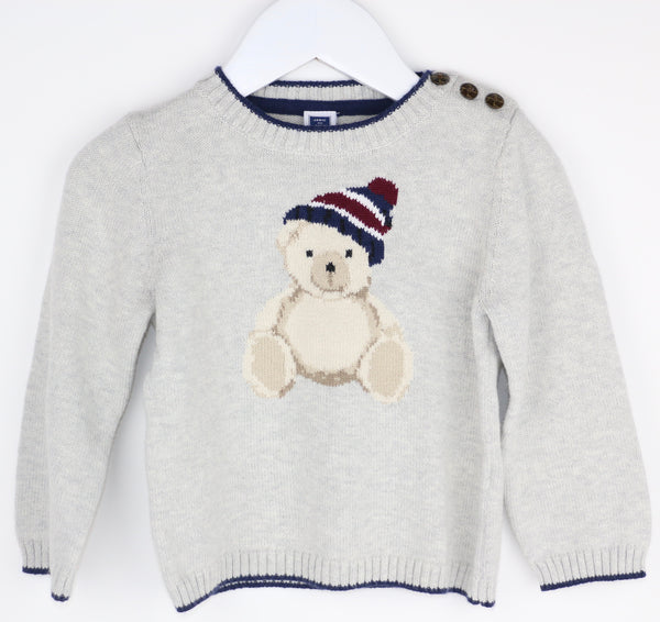 Beanie Teddy Bear Sweater (18-24M)