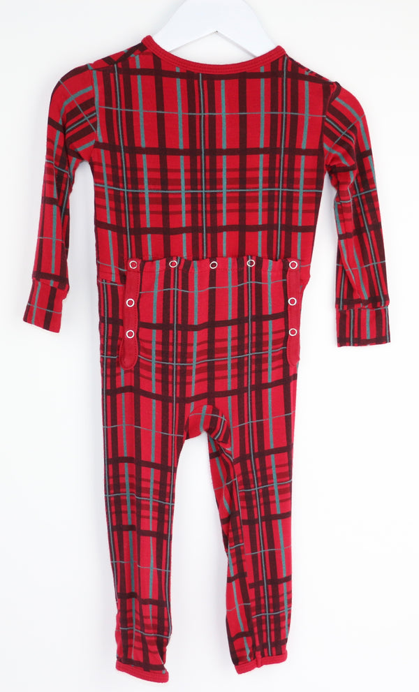 Scottish Holiday Plaid Romper (12-18M)