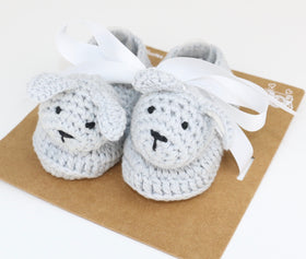 Bunny Rabbit Crochet Booties (0-6M)