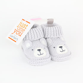 Gray Bear Booties (NB)