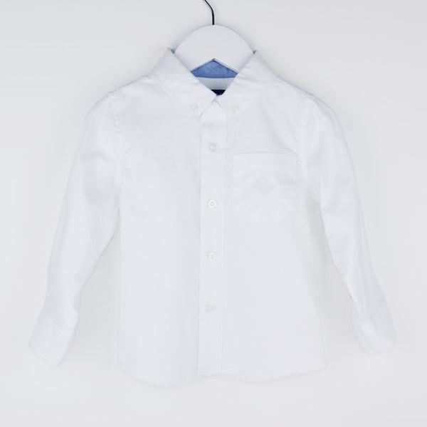 White Oxford Button-down Shirt (2T)
