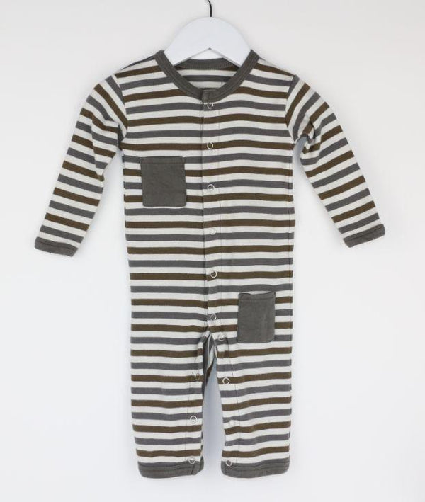 Long-Sleeve Pocket Romper (6-9M)