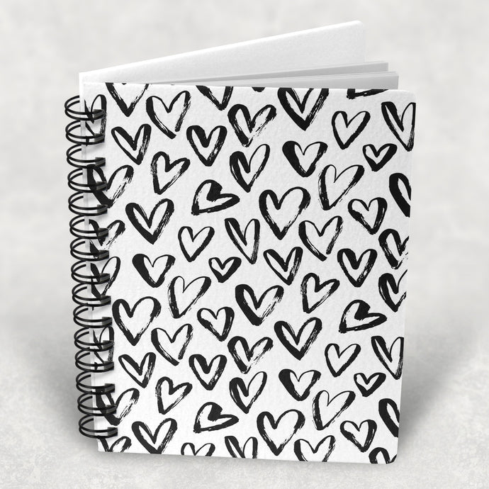 Heart Pattern print A5 Lined Notebook