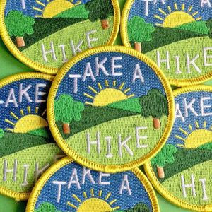 Take A Hike Iron On Patch
