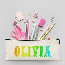 Load image into Gallery viewer, Personalised Rainbow Pencil Case