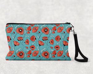 Tattoo Pattern Turquoise Make Up Bag