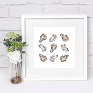 Oyster Shells Square Pattern Print