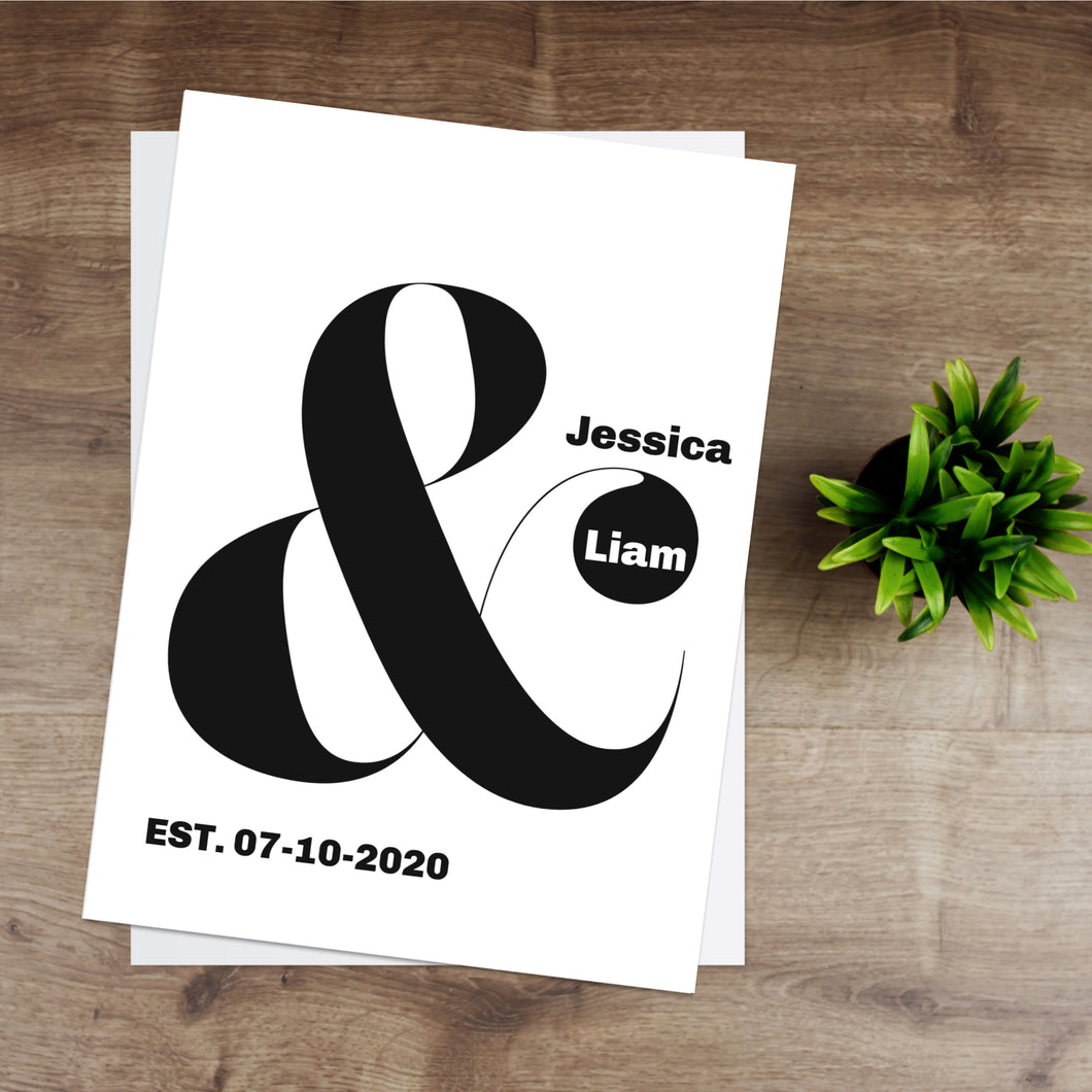 Personalised Ampersand Print