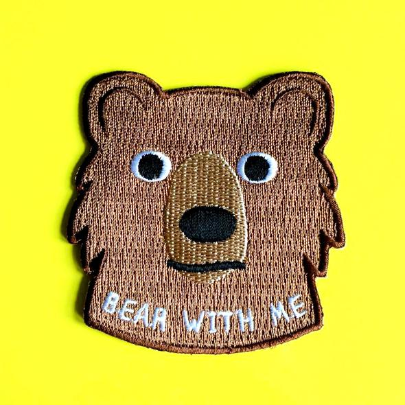 Bear With Me Iron On Patch