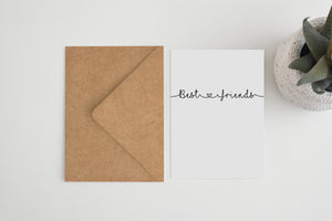 Best Friends Greetings Card