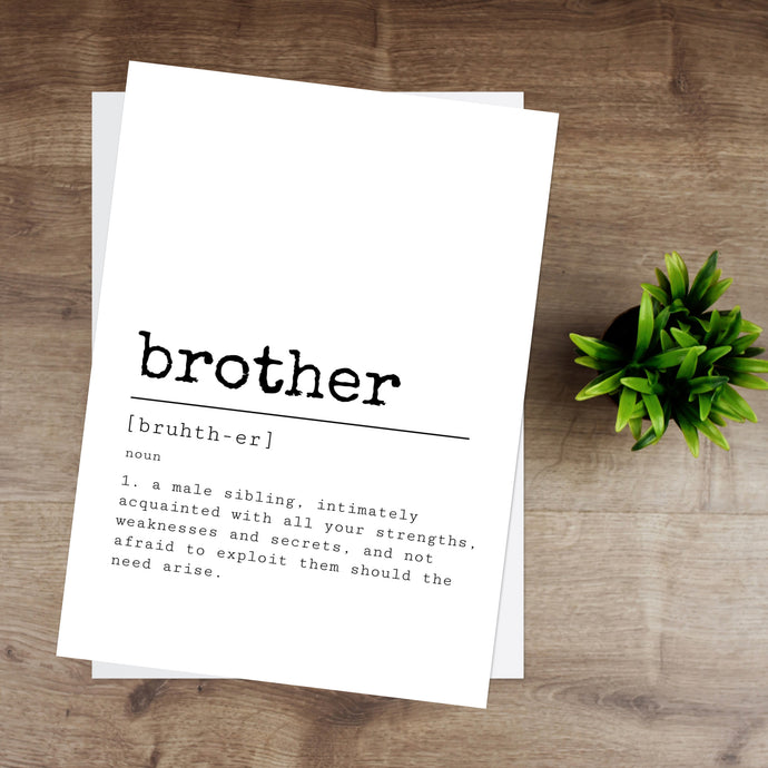 Brother Definition Print