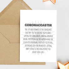 Load image into Gallery viewer, Coronacoaster - Greetings Card