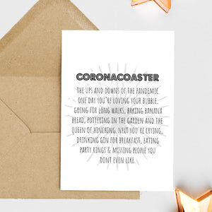 Coronacoaster - Greetings Card