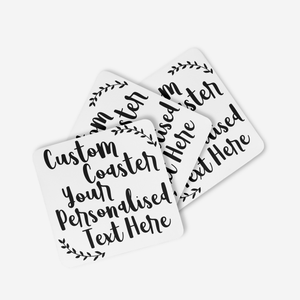 Custom Text Coaster