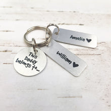 Load image into Gallery viewer, Personalised Daddy Keyring