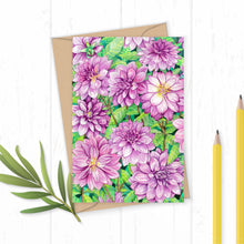 Load image into Gallery viewer, Dahlia Greetings Card