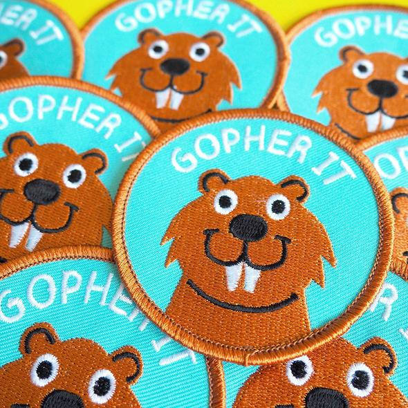 Gopher It Iron On Patch