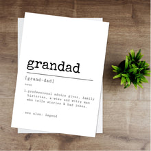 Load image into Gallery viewer, Grandad Definition Print