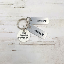 Load image into Gallery viewer, Personalised Grandma Keyring
