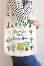 Load image into Gallery viewer, The Garden Is My Happy Place Linen Tote Bag