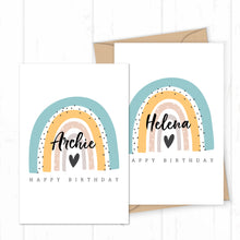 Load image into Gallery viewer, Personalised Name Birthday Card