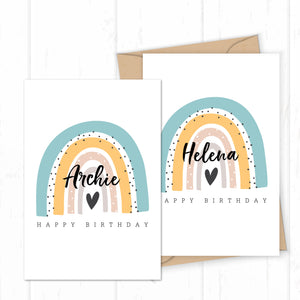 Personalised Name Birthday Card