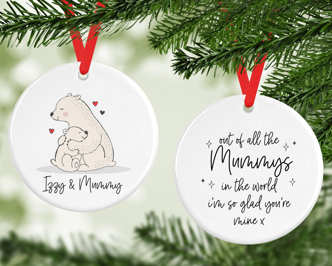Personalised Ceramic Mummy Christmas Decoration