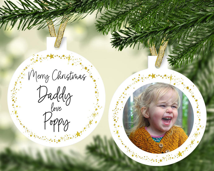 Personalised Daddy Christmas Decoration