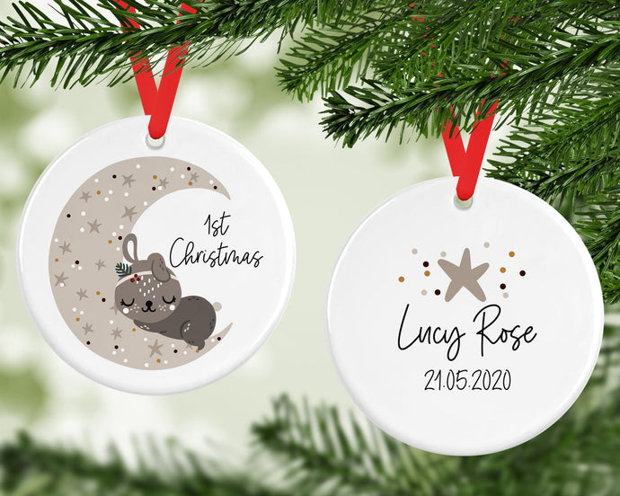 Personalised 1st Christmas Decoration
