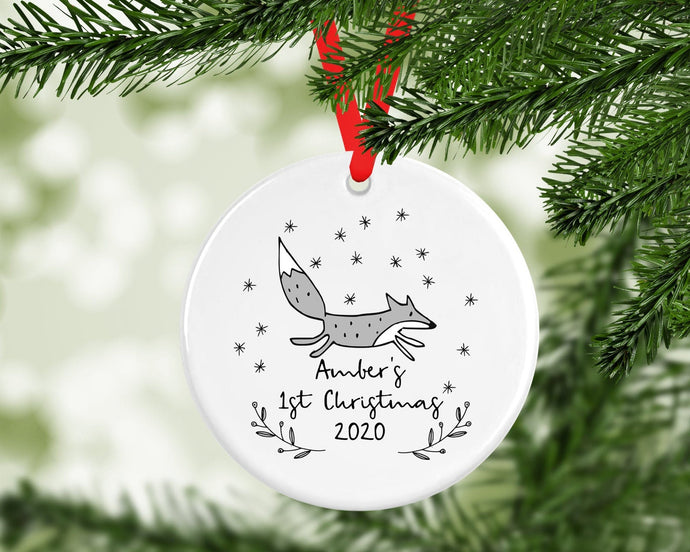 Personalised Baby 1st Christmas Decoration