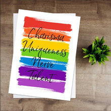 Load image into Gallery viewer, Charisma Uniqueness Nerve Talent -  Print - RuPaul Drag Race Print - Pride Rainbow Print