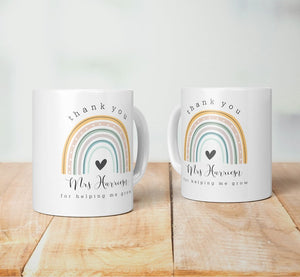 Thank You For Helping Me Grow - Personalised Mug