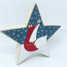 Load image into Gallery viewer, Hand Painted Fox Wooden Star