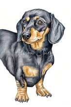 Load image into Gallery viewer, Black And Tan Dachshund Greeting Card