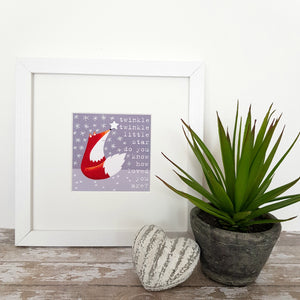 Twinkle Twinkle Little Star - Fox Print