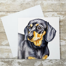 Load image into Gallery viewer, Dachshund Greetings Card