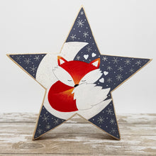 Load image into Gallery viewer, Hand Painted Wooden Star - Fox Gift