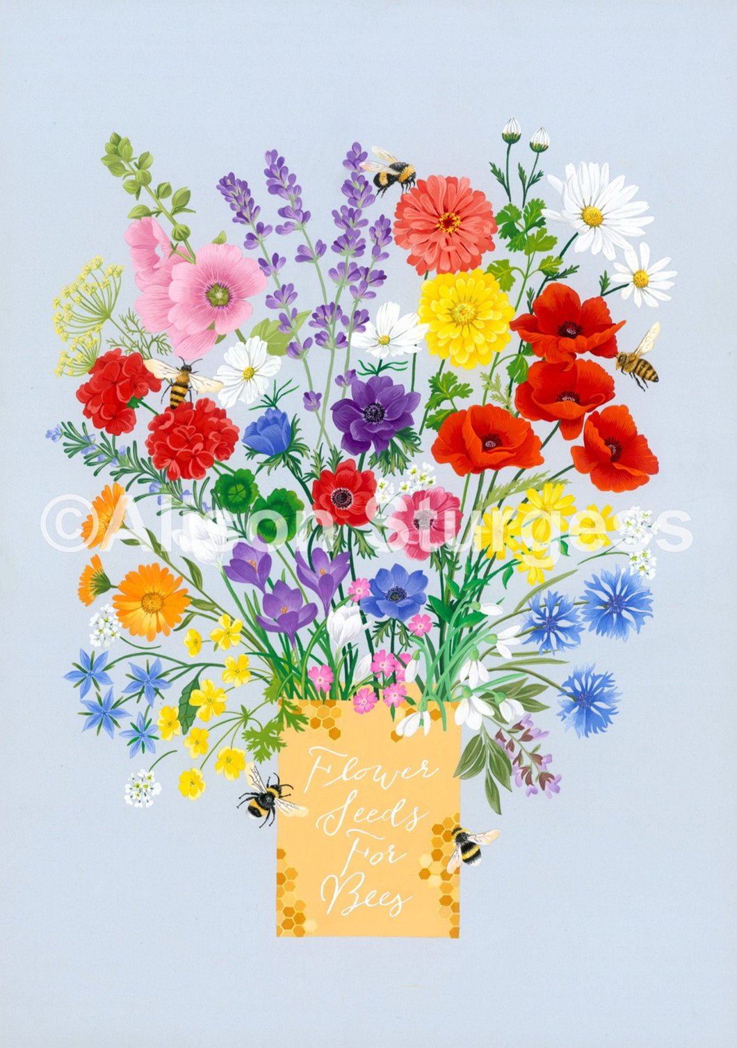 Flower Seeds For Bees Print