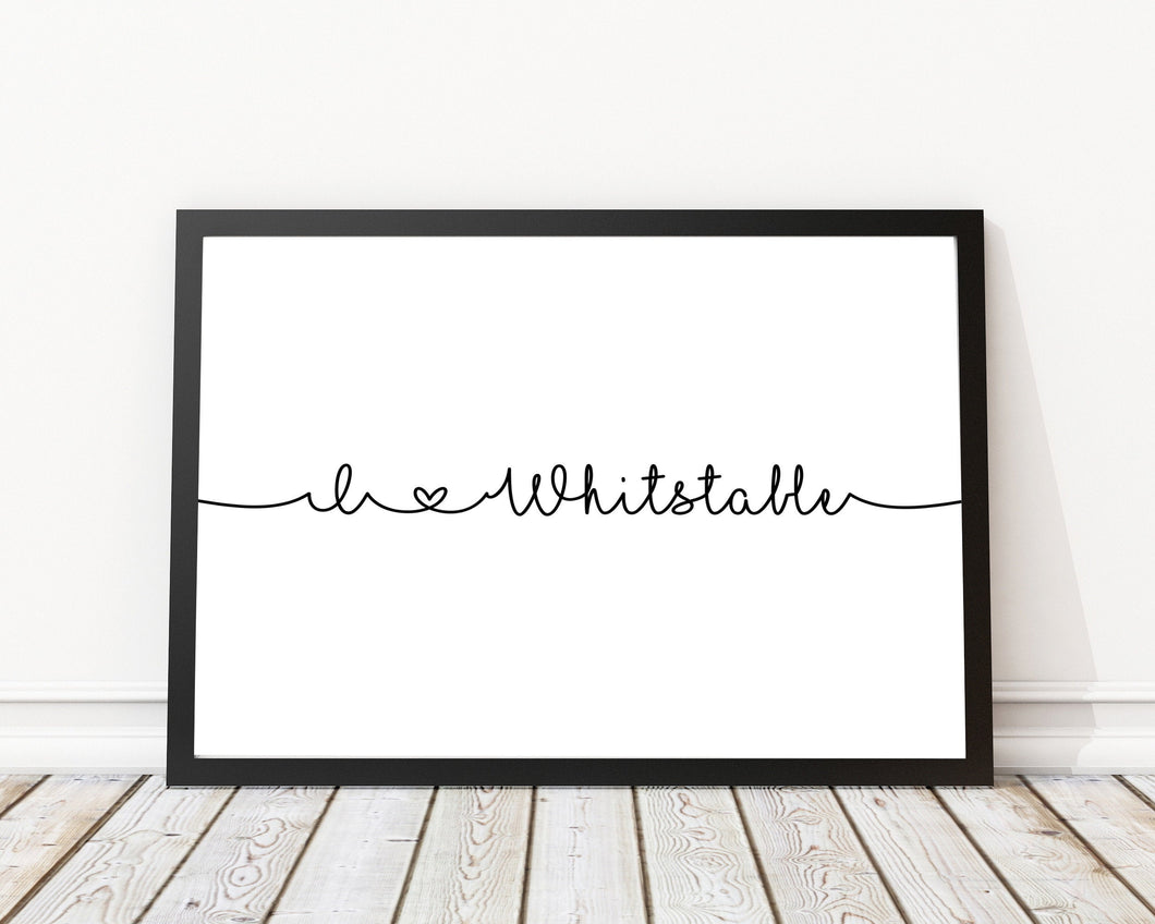 I love Whitstable Print