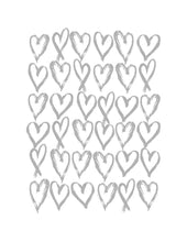 Load image into Gallery viewer, Love Hearts Print - Grey and White