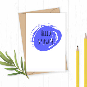 Hello Sausage - Greetings Card