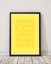 Load image into Gallery viewer, Love Heart Print - Yellow