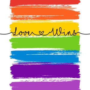 Love Wins  Print - LGBT Quotes - Pride Equality Print - Pride Rainbow Print